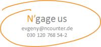 Kontakt Evgeny Zlatkovsky evgeny@ncounter.de